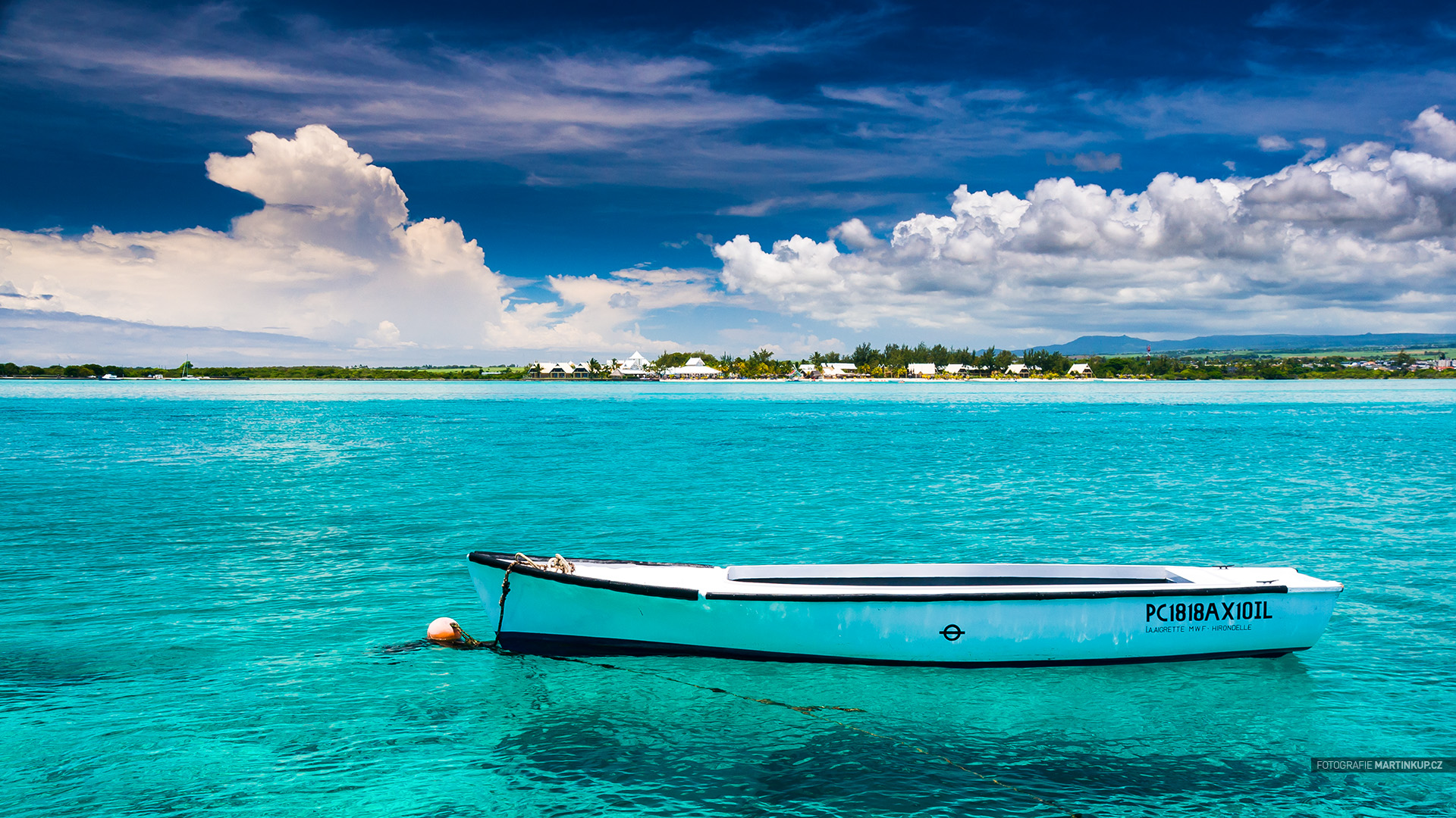 Tapeta na plochu: Blue Bay, Mauritius (16:9)