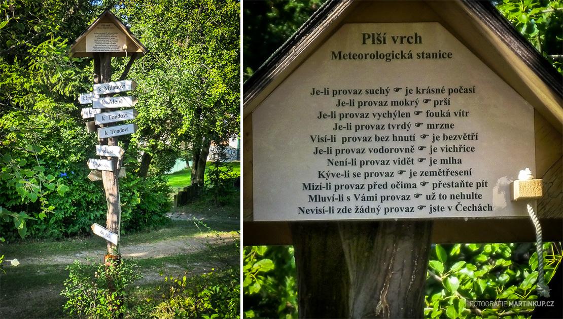 Vtipná meteorologická stanice na Plším vrchu
